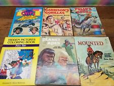 Lot of Vintage Coloring Books - Lone Ranger, Planet of the Apes, ChiPs, and more