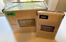 Ralph Lauren 52nd Street Caramel Queen Flat Sheet Pillowcases 370tc Sateen