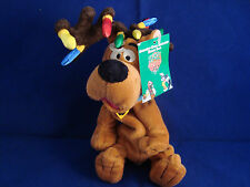"SCOODY-DOO-ANTLERS-12""-WARNER BROS-NEW /TAG-BEANIE-PLUSH-XMAS LITES ON ANTLERS"