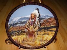 """Washakie"" American Indian Buck Tom Beecham The Franklin Mint Plate Company"