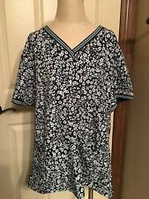 Med Couture 2Xl Green Scrub Pants And Coordinating Print Top Nwt $60 (115)