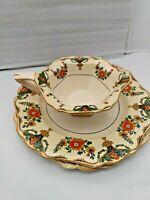 Royal Ivory - John Maddock & Sons - Minerva  - (2 Dinner Plates, 1 Gravy Bowl)