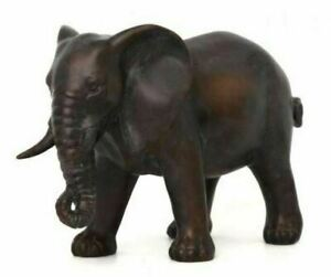 Bronzed Elephant Ornament Statue Home Decor
