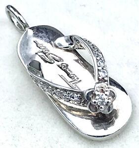 "Thomas Sabo ""Flip Flop"" CZ Pendant_925 sterling silver"