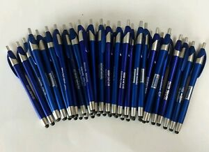 40 Piece Lot Misprint BLUE Retractable Stylus Click Pen Javalina/Javelin/Cirrus