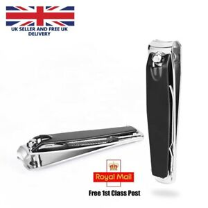 Finger Nail Clippers With File Cutters Trimmer Nipper Toe Nail Small Black UK