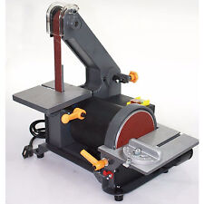 "Heavy Duty 1"" Sander Belt 5"" Disc Grinder Table Top Sanding Machine 1/3HP Motor"