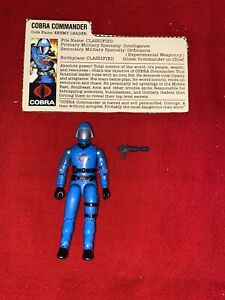 1982-83 GI JOE COBRA COMMANDER v1.5 SWIVEL ARM 100% COMPLETE WITH FILE CARD
