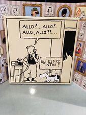 Tintin - Plaque émaillée - Émaillerie Belge - 35 x 35