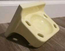 "Vintage Mosaic Ceramic Toothbrush Holder Light Yellow ""NOS"""