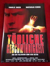Tödliche Geschwindigkeit Kinoplakat Poster A1, Charlie Sheen, Nastassia Kinski