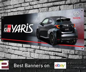 Toyota GR YARIS PVC Vinyl Banner for Garage, Workshop, TRD, BLACK GR YARIS