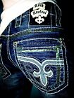 NWT New Mens Rock Revival Straight Jeans Raynon 30 31 32 34 36 38 40 42 Long