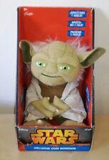 Peluche Yoda 20 cm Star Wars pupazzo originale Disney con suono plush soft toys