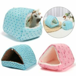 Winter Rabbit Small Animal Sleeping Bed Guinea Pig Nest Warm Mat Hamster House