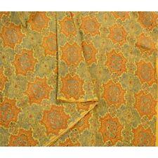 Sanskriti Vintage Ajrakh Block Printed Sari Heavy Saree Pure Silk Craft Fabric