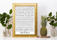 George Michael Different Corner lyric personalised gift a4 print valentines day
