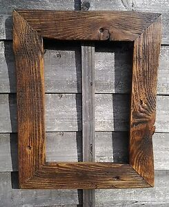 Rustic Reclaimed Jacobean Wood Driftwood A4 Picture Canvas Photo Frame Christmas