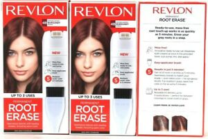 3 Boxes Revlon Permanent Root Erase Matches 4B Burgundy Shades Up To 3 Uses