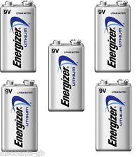 5 x Energizer 9V Ultimate Lithium Batteries- Smoke Alarm Wireless Mic LA 522 10