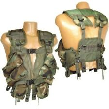 US GI Military Enhanced Load Bearing Vest Woodland Camo Used, Hunting Airsoft