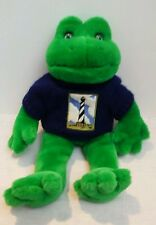 "Fiesta 15"" Green Frog Plush Lighthouse Frog Blue Sweater"