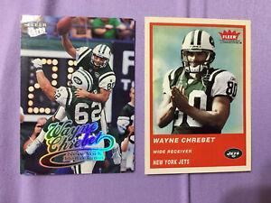 1999 Skybox Ex siglo #36 Wayne Chrebet Nueva York Jets Fútbol Tarjeta