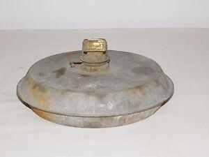 """VINTAGE LIGHT 9"""" ACROSS BADGER KEROSENE OIL LAMP"""