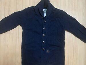 G-Star Raw Renej Shawl Cardigan Knit Size M Navy Casual Comfort Cotton Sweater