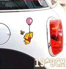 Cute Cartoon Winnie the Pooh holding balloon Car Decal Car Sticker - 1pc