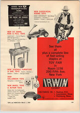1967 PAPER AD Irwin Toy Hoss Cartwright Mini Bike Ride Lawn Mower Volkswagen VW