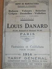 catalogue de mode - dentelles - soieries - vêtements - année 1914 ( ref 18 )