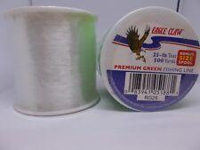 eagle claw 25 lb test 500 yards premium clear fishing line monofilament bonus sz