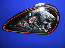 LETHAL THREAT EMBOSSED ALUMINUM GAS TANK SHAPED WALL ART RIDE OR DIE BC37792 T
