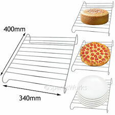 Oven Cooker Base Plate Warmer Pizza Stand Cake Cooling Wire Rack UNIVERSAL 400mm