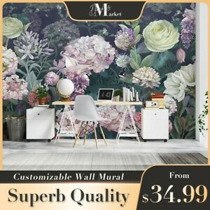 Flowers Floral 3D Wall Mural Bedroom Removable Wallpaper Murals
