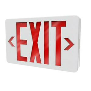 Philips Thermoplastic LED White Emergency Exit Sign with Battery / 722