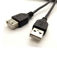 5m Metre USB 2.0 Male To Female EXTENSION Cable EXTENDER Lead Black