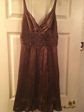 BCBG MaxAzria Women's Silk Spaghetti Strap Dress, Size Small