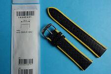 Casio Uhrband WVQ-550 Lederband  schwarz/gelb