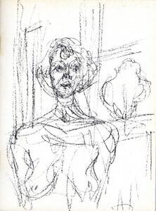 "White ALBERTO GIACOMETTI Dessins 27.5/"" x 16.5/"" Lithograph 1974 Black /& White"
