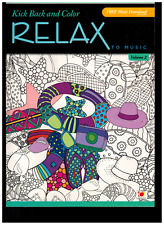 Adult Coloring Book - Relax - Kick Back & Color - NEW -