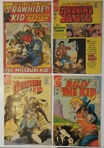 Bronze Age (4) Western Comics Rawhide, Cheyenne, Billy the Kid, Geronimo Jones