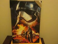 "Silver Buffalo Disney Star Wars Wood Poster Plaque 19"" X 13"" Brand New"