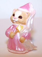 1993 Hallmark Princess Cat Dressed in Pink New Merry Miniature Halloween Qfm8305