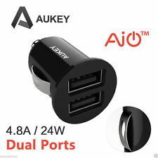 Aukey Mini Car charger high power 4.8A/28W Dual Port USB Car Charger for phone