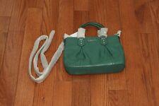 NWT $298 Coach F20342 Ashley Leather Mini Tote Purse Handbag Silver/Aegean