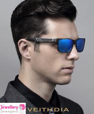 Lente Gris Plata Cuadrado Azul Aluminio Sol Polarizadas Deportivo para Hombre de conducción