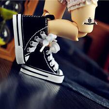 1/6 BJD Shoes Boots Yosd Dollfie AOD DOD DIM Dollmore Black canvas Sneaker Boots