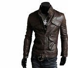 ★Giacca Giubbotto Uomo in di PELLE 100% Men Leather Jacket Veste Homme Cuir 8z1g